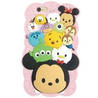 【送料無料】iPhone6対応/ディズニーツムツム(TSUMTSUM)ピンク/シリコンカバー/ソフトジャケット/DN-270PK(代金引換はできません)