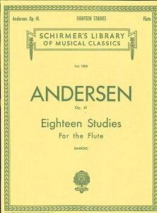 楽譜 GYW00073201 アンデルセン 18の練習曲 OP.41/フルート ANDERSEN Joachim 18 Petites Etudes Op.41 / シャーマー社