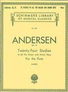 楽譜 GYW00073202 アンデルセン JOACHIM 24の練習曲 OP.21/フルート ANDERSEN JOACHIM 24 PETITES ETUDES OP. / シャーマー社