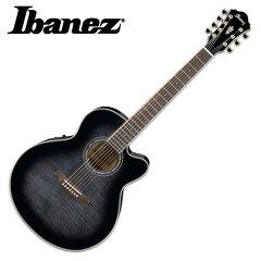 アイバニーズ 7弦エレアコギター AEL207E Transparent Black Sunburst Ibanez