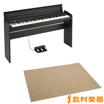 KORG LP-180 ブラック 電子ピアノ 88鍵盤 カーペット(大)セット 【コルグ LP180】【別売り延長保証対応プラン:E】
