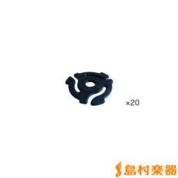 stokyo アダプター インサート型 7インチ 20個入りパック Plastic 45RPM Insert Adapter ( P45IN ) Black 【ストウキョウ】