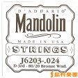 D'Addario J6203 マンドリン弦 Mandolin Family 80/20 Bronze 024 【バラ弦1本】 【ダダリオ】