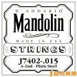 D'Addario J7402 マンドリン弦 Mandolin Family Medium / Phospor Bronze 015 【バラ弦1本】 【ダダリオ】