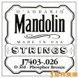 D'Addario J7403 マンドリン弦 Mandolin Family Medium / Phospor Bronze 026 【バラ弦1本】 【ダダリオ】