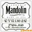 D'Addario J7404 マンドリン弦 Mandolin Family Medium / Phospor Bronze 040 【バラ弦1本】 【ダダリオ】
