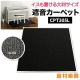 EMULCPT305L電子ピアノ用遮音カーペット【数量限定ミルキーブラックカラー】【エミュール遮音マット】