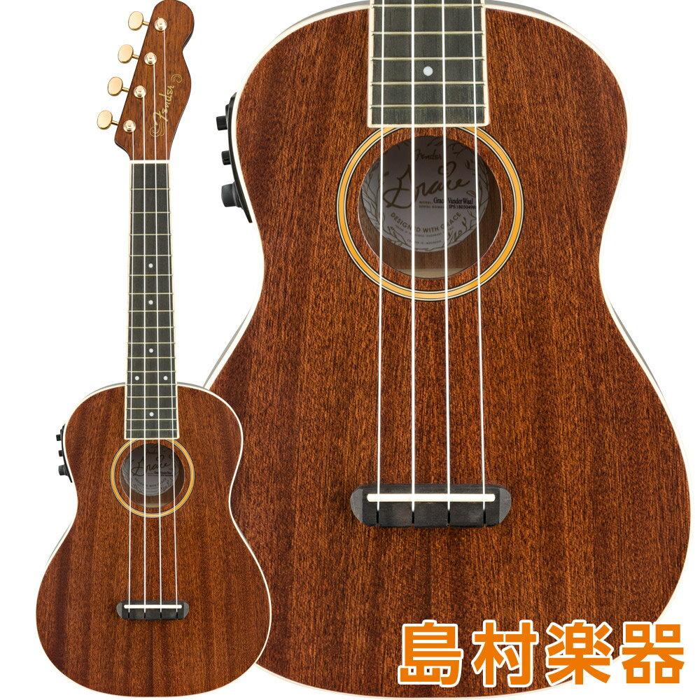 ウクレレ, コンサートウクレレ Fender Grace VanderWaal Signature Uke Walnut Fingerboard Natural