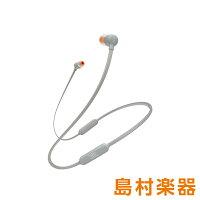 JBL T110BT (グレー) ワイヤレスイヤホン Bluetoothイヤホン