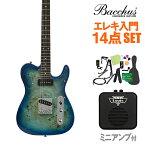 Bacchus TACTICS-BP/R BL-B エレキギター 初心者14点セット 【ミニアンプ付き】 ユニバースシリーズ 【バッカス タクティクス】【オンラインストア限定】