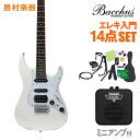 Bacchus GS-Mini WH エレキギター 初心者1...