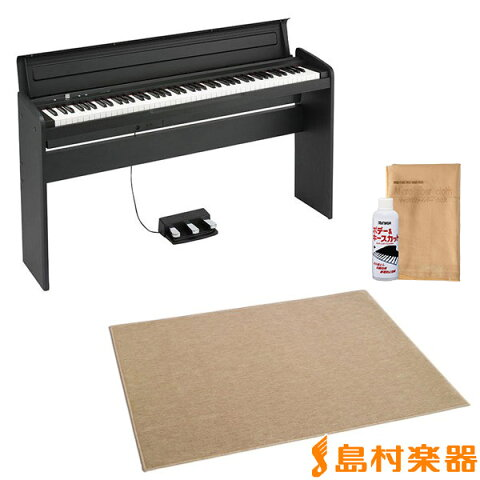 KORG LP-180 ブラック 電子ピアノ 88鍵盤 カーペット(大)セット 【コルグ LP180】