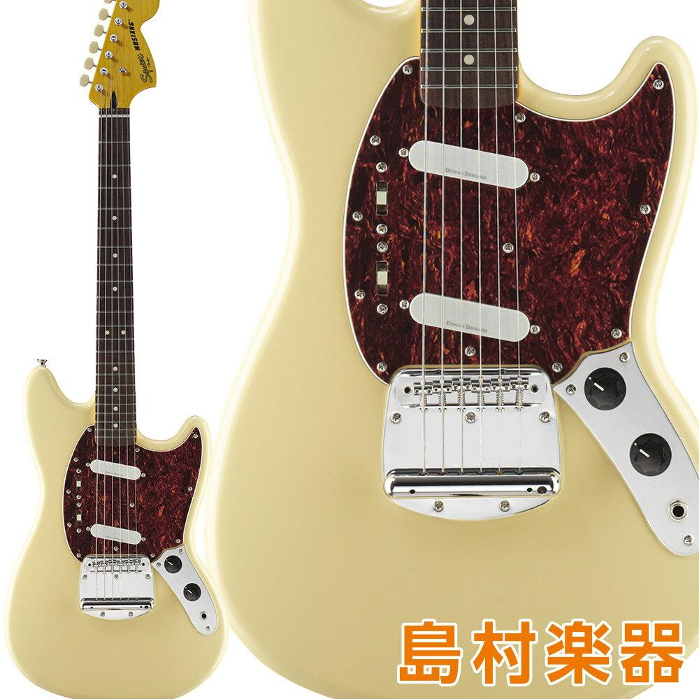 ギター, エレキギター Squier by Fender Vintage Modified Mustang Laurel Fingerboard Vintage White