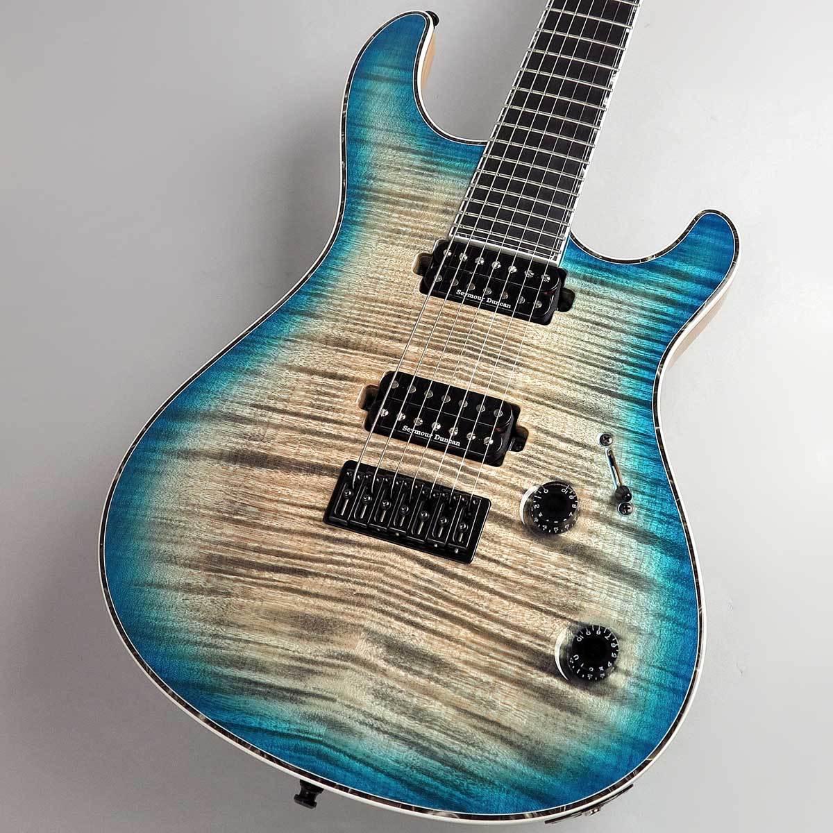 ギター, エレキギター MAYONES Regius 7st 4A Flame Maple Top JeansBlack2-ToneBlueBurst 7 PePe