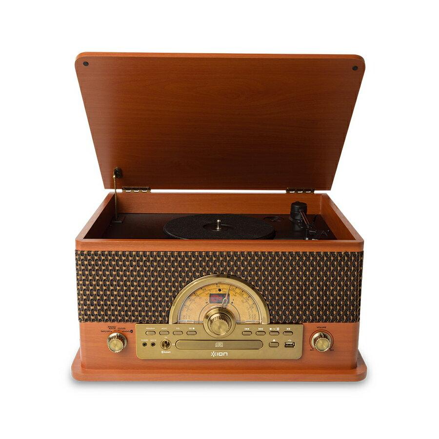 ION AUDIO Superior LP レトロ調 レコードプレーヤー Bluetooth対応 [ カセットテープ/ CD/ ラジオ/ USB]対応 【アイオンオーディオ】の写真