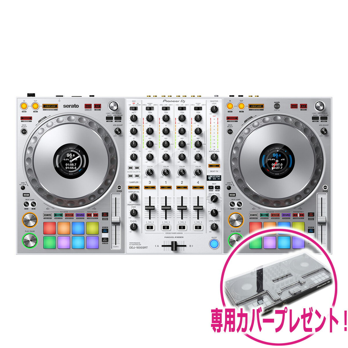 DJ機器, DJコントローラー Serato DJ Suite Pioneer DJ DDJ-1000SRT-W Serato DJ Pro 4chDJ