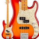 Fender American Ultra Precision Bass Maple Fingerboard Plasma Red Burst プレシジョンベース 【フェンダー】