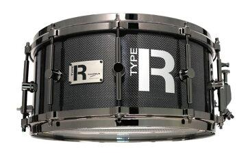 Type-R CTR-1465DH スネアドラム Carbon Fiber CANNON 【タイプアール CTR1465DH ダイキャストフープ】