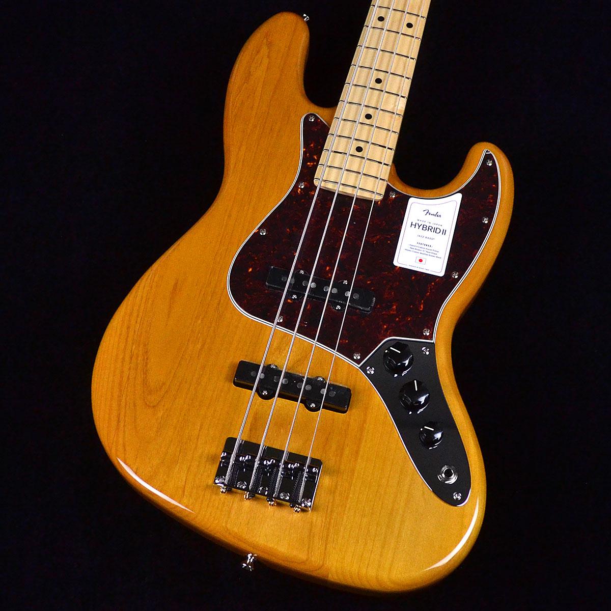ベース, エレキベース Fender Made In Japan Hybrid II Jazz Bass Vintage Natural 2
