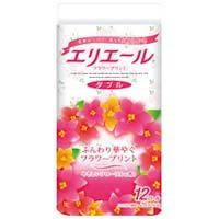 【大王製紙】 トイレティシューフラワーダブル 12R×8P ★お得な10個パック