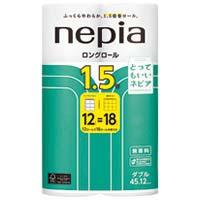 【王子ネピア】 ロングトイレットロール12R ダブル 45m×6P ★お得な10個パック
