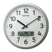 【リズム時計】 電波時計 プログラムカレンダー01SR 直径350×56mm4FNA01SR19 入数:1 ★お得な10個パック:シミズ事務機
