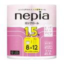 【王子ネピア】 ネピアロングトイレットロール 桜の香り 114mm×4...