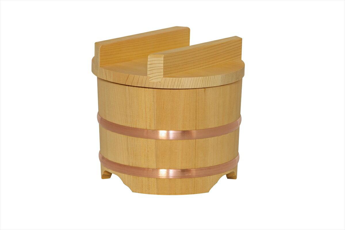 のせ蓋おひつ 6寸 3合 木製 木曽さわら 銅タガ 桶 お櫃 和食器 関西おひつ 地びつ ひつまぶし【日本製】【国産】【引き出物】【結婚祝い】
