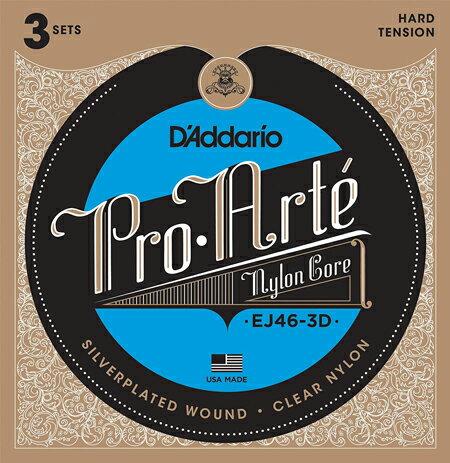 ギター用アクセサリー・パーツ, クラシックギター弦 DAddario EJ46-3D Pro-Arte 3SET PACK