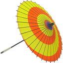*紙傘(赤黄渦)子供用 1本通 子供傘 お稽古はもちろん本番にも使えます。文化祭・大道芸・コスプレの小道具としても最適!【舞台・ステージ 舞傘・撮影・小道具】舞踊傘・舞踊小道具