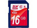 Team SDHC Card 容量:16GB SDメモリカード Class10型番 TG016G0S