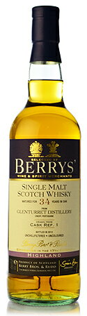 BB & r glenturret 34 years (GlenTurret 34yo) Shelley hogs head CASK REF.1