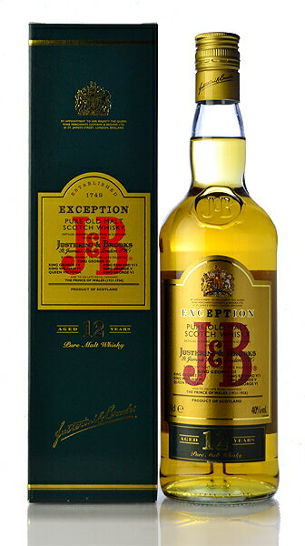 J & B exceptions 12 years