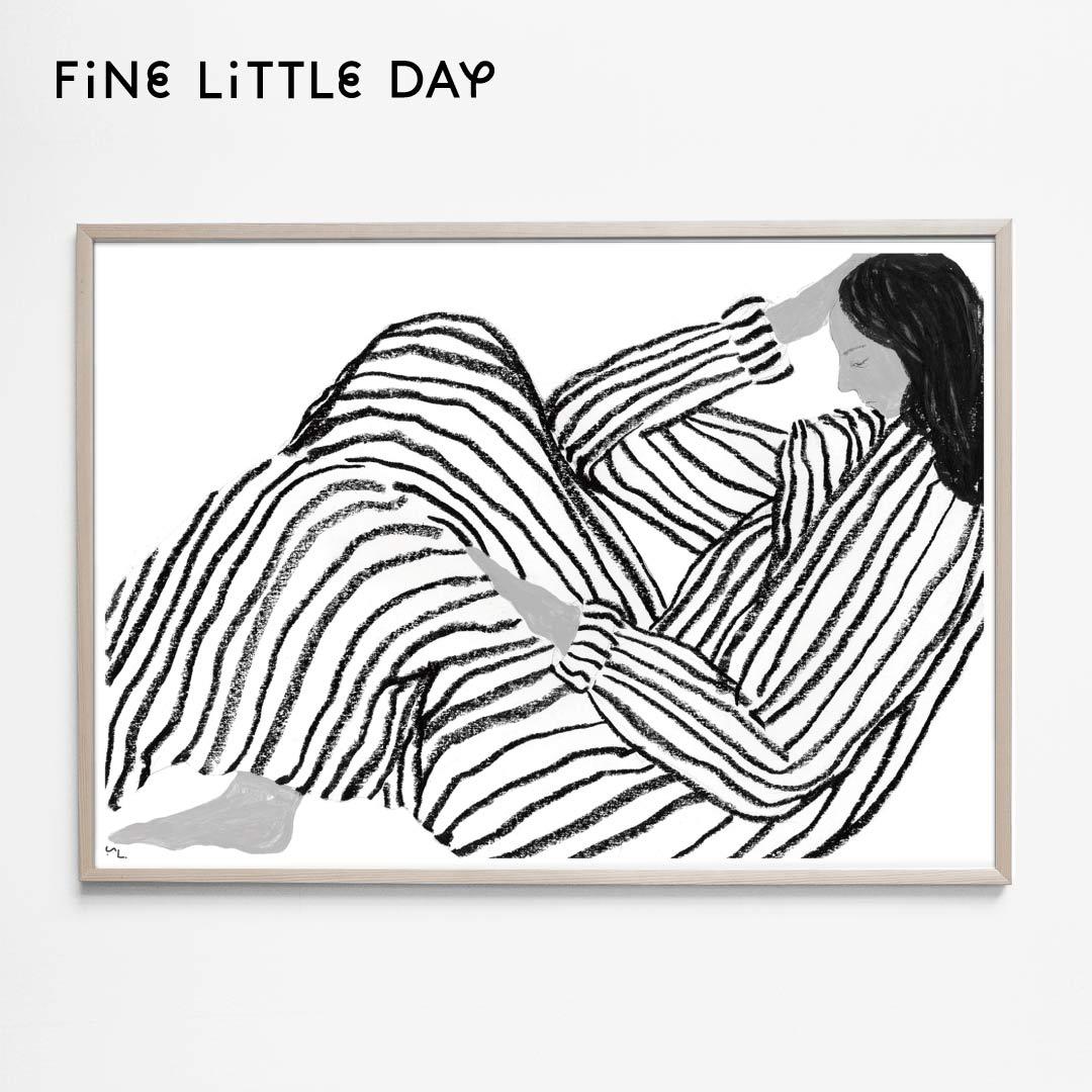 Fine Little Day ポスター BORED (70×50cm) ファインリトルデイ アートプリント 北欧 スウェーデン 北欧インテリア おしゃれ かわいい シンプル 母の日 早割 お祝い 内祝い