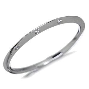 【1点限り即納可!】K18WG0.02ctダイヤモンドリング