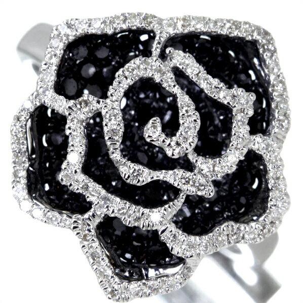 K18WG Total1.0ctブラックダイヤモンドリング:ジュエリープロデューサーSHINCOKI