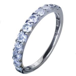 ハーフエタニティーダイヤモンドリングPT9000.85ctダイヤモンド【送料無料】