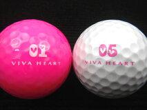 VIVAHEART(ビバハート)10Pセット各色【ロストボール】【ゴルフボール】【あす楽対応_近畿】【中古】