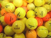 訳ありNo,12-1カラーボール混合50P【ロストボール】【ゴルフボール】【あす楽対応_近畿】【中古】