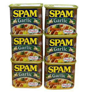 スパムガーリック 340g×6缶セット 新栄商店 スパムポーク 沖縄 スパムおにぎり 防災備蓄用 レターパック510発送