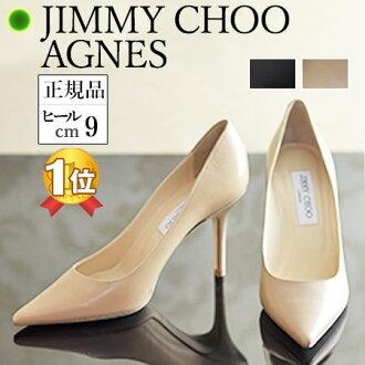 吉米朱吉米朱阿格尼絲 / 艾格尼絲 CHOO 24:07 泵 8.5 至 9 釐米 | 腳跟高跟鞋高跟鞋的鞋跟踩泵尖腳趾正式泵黑色黑色真皮周仰傑品牌皮鞋的女性新真正的秋天