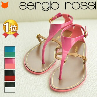 Sergio Rossi 平底涼鞋 A25810 橡膠 涼鞋 多色 女裝 沙灘涼鞋 時尚 美腳