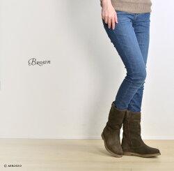 本革ショートブーツスエードレディースレザーイタリアブランドステファノガンバSTEFANOGAMBA|中もこもこ暖かい内ボアローヒール疲れない歩きやすい柔らかい履きやすいブーツ靴黒ブラックカジュアルきれいめ送料無料