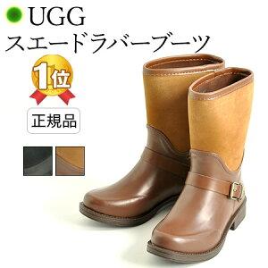 【ランキング1位】 UGG レインブーツ ショート ブーツ レディース アグ ラバー ブーツ SIVADA 防水 黒 ブラック 茶 ブラウン 長靴 通勤 防水 雨 靴 雪