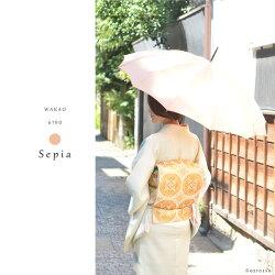 ワカオ長傘55cm大判日本製ブランドの美しい雨傘ウッドハンドル|wakaoかさ12本骨タッセルラタン籐軽いかっこいいブランドレディース和装や浴衣にも似合う傘洋傘軽量プレゼントや贈り物にもおすすめおしゃれかわいいレッドセピア