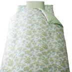 正規品 やさしい肌触り 掛布団カバー 小花 ピーチスキン 150×210cm グリーン