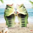 魚 サンダル フィッシュ グリーン ビーチ 魚釣り スリッパ