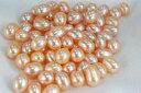 淡水 真珠  7mm  ライス  ルース 片孔ペア 材料  ホワイト オレンジ パープル グレー ブラック ゴールド