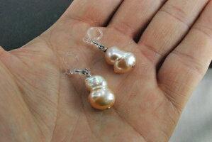 シリコンブライヤリングナチュラル淡水双子珠