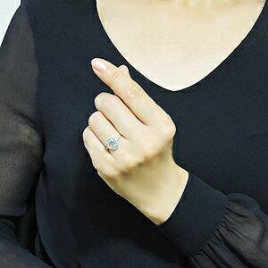 指輪 レディース K18 ホワイトゴールド ブルートパーズ リング しずく型 ダイヤモンド 11月誕生石 ギフト プレゼント  ラッピング無料 ケース付き 誕生日 クリスマス ホワイトデー